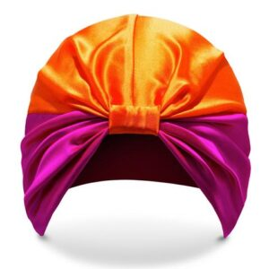 purple-orange hair wrap